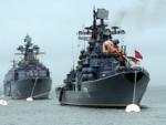 Военный корабль РФ был замечен вблизи Латвии