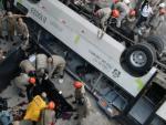 В Германии перевернулся автобус, перевозивший 66 пассажиров